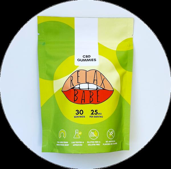 25mg pouch Relax Babe CBD gummies