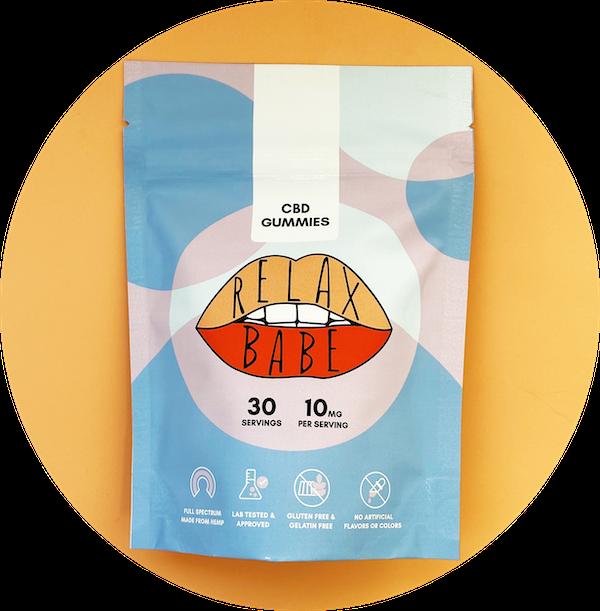 10mg pouch Relax Babe CBD gummies